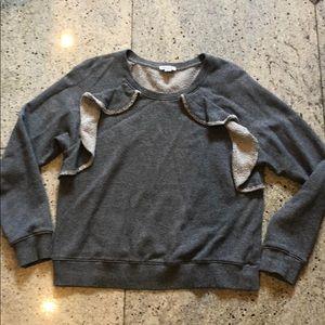 Splendid Ruffle Sweatshirt